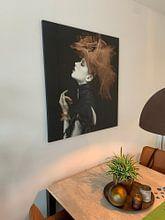 Klantfoto: imperious Lady, Yudhistira Yogasara van 1x, op canvas