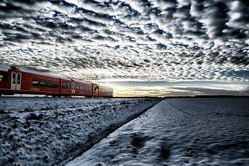 Arriva Zug auf dem Weg von Bad Nieuweschans nach Groningen von Jan Sportel Photography