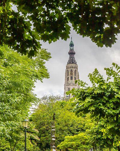 Breda, Grote Kerk in het groen
