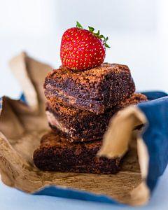Fruitige brownies van Martijn Koevoets