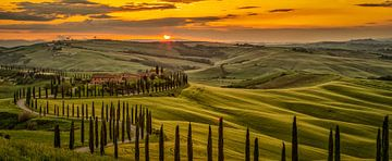Coucher de soleil en Toscane sur Teun Ruijters