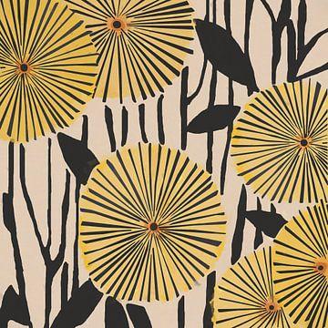 Gelbe Blumen von Angel Estevez