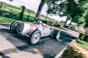 Auto Union Grand Prix Rennwagen Type C V16 op hoge snelheid