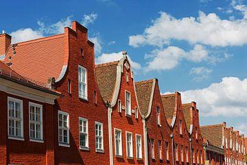 Fassaden im Holländischen Viertel in Potsdam
