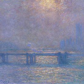 Charing Cross Bridge, la Tamise, Claude Monet sur Meesterlijcke Meesters