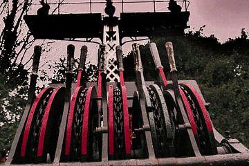 Spoorwegmuseum - Spoorwissel rood van Wout van den Berg