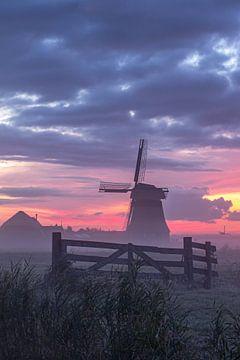 zonsopkomst bij de molen van Frans Bruijn