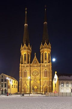 Nuit photo Eglise Saint-Joseph à Tilburg sur Anton de Zeeuw