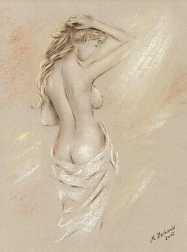 Déesse de l'aube - Femme nue sur Marita Zacharias