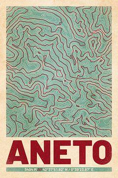 Aneto | Kaarttopografie (Retro) van ViaMapia