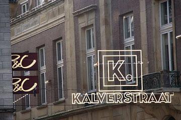 Ingang van de Kalverstraat in Amsterdam