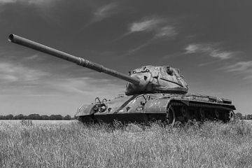 M47 Patton leger tank zwart wit 4 van Martin Albers Photography