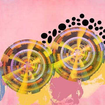 Abstract in beweging van Thea Walstra