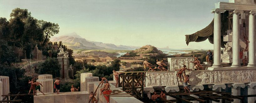 Blick in Griechenlands Blüte, August Wilhelm Julius Ahlborn von Meesterlijcke Meesters