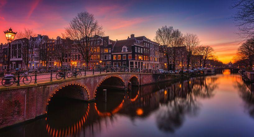 Amsterdam canals van Photo Wall Decoration