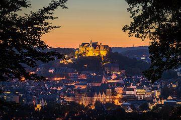 Blauw uur in Marburg van Jürgen Schmittdiel Photography