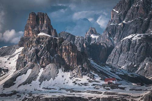 Rock formations in the Dolomites van