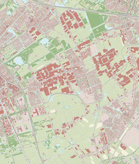 Kaart vanPijnacker-Nootdorp van Rebel Ontwerp