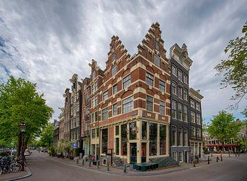 De mooiste grachtenpanden van de Brouwersgracht in Amsterdam van Peter Bartelings Photography