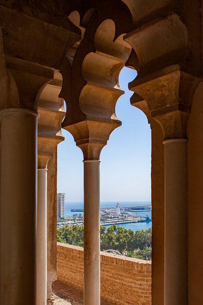 Malaga uitzicht van het Alcazaba van Gerard van de Werken