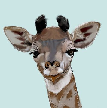 Giraffe Aquarell von Femmie Van der knokke