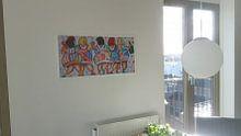 Klantfoto: Proostende dames van Vrolijk Schilderij, op canvas