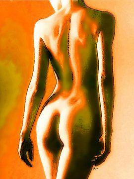 Femme nue   Dos charmant sur Dirk H. Wendt
