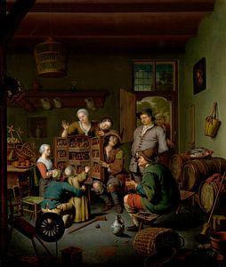 Die Seltene Schau ('t Fraay Curieus), Willem van Mieris
