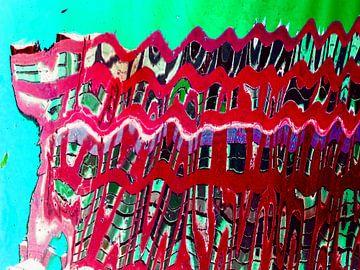 Urban Painting 103 - Rood! van MoArt (Maurice Heuts)
