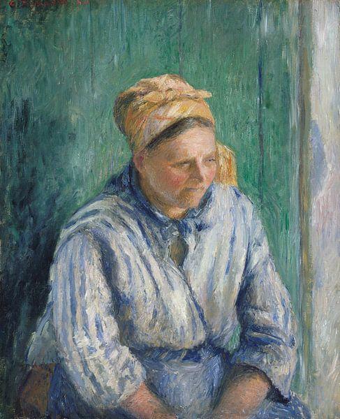 Wasvrouw, Studie, Camille Pissarro van Meesterlijcke Meesters