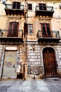 Verlaten Siciliaans huis in Palermo