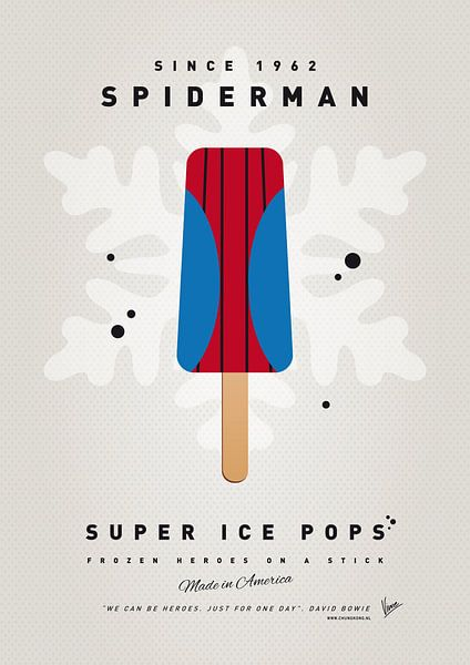 My SUPERHERO ICE POP - Spiderman van Chungkong Art