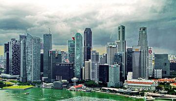 Skyline Singapore sur Eduard Lamping