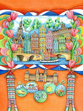 Amsterdam - Europa voor Kinderen van Atelier BuntePunkt