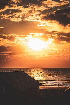 Zonsondergang Katwijk aan zee van S van Wezep
