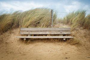 zitbank aan de kust