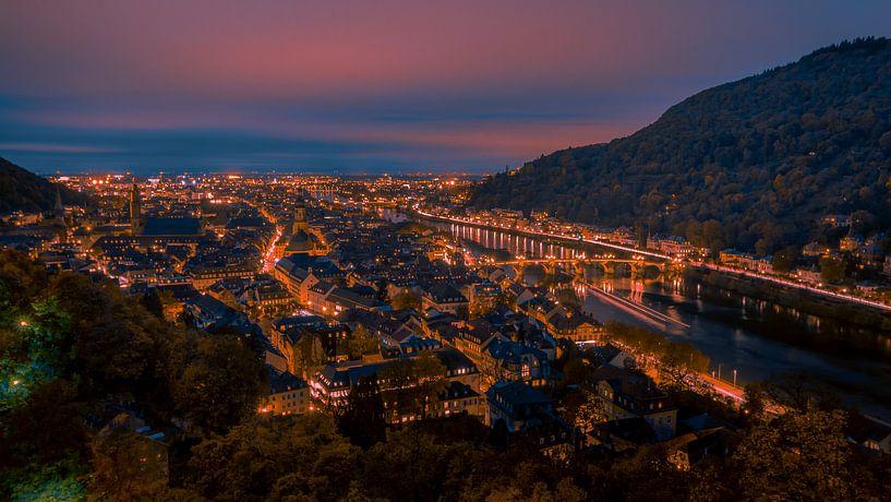 Heidelberg in der Nacht von Monodio Photography