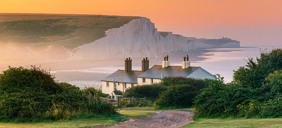 Sunrise at Cuckmere Haven and the Seven Sisters