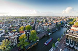 Uitzicht over Amsterdam van