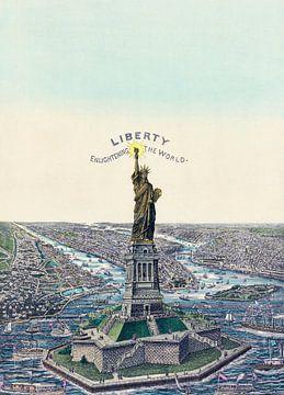 Het Vrijheidsbeeld, New York van Vintage Afbeeldingen
