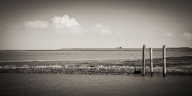 North Sea Coast / East Frisia (Black and White) van Alexander Voss