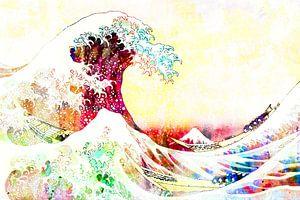 Die große Welle des Kanagawa Abstracts von Art By Dominic