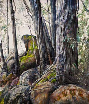 Australische Landschap met moss van KB Prints