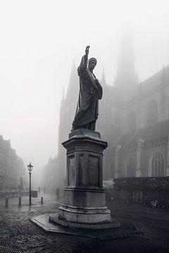 Haarlem: Lautje in de mist. von Olaf Kramer