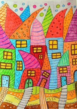 Bunte Häuser von Inge Knol