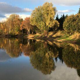 Herfst spiegel van Picture Jo