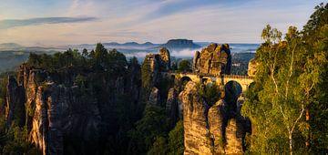 Basteibrücke im Sommer von Daniela Beyer