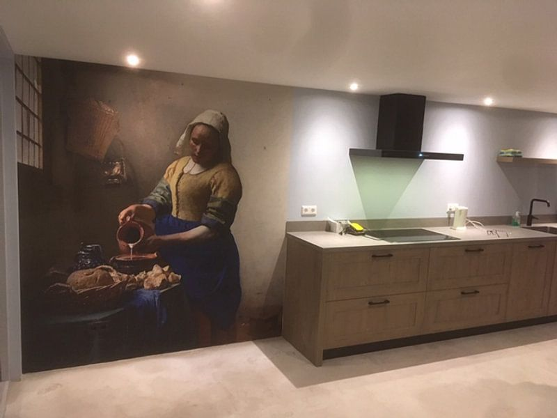 Kundenfoto: Dienstmagd mit Milchkrug - Vermeer gemälde