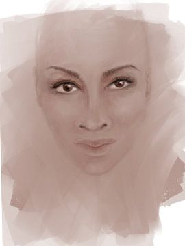 Ton in Ton Rosa von Afrotastic Art