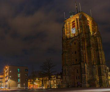 De Oldehove in de avond, Leeuwarden van Chiel Hoekstra